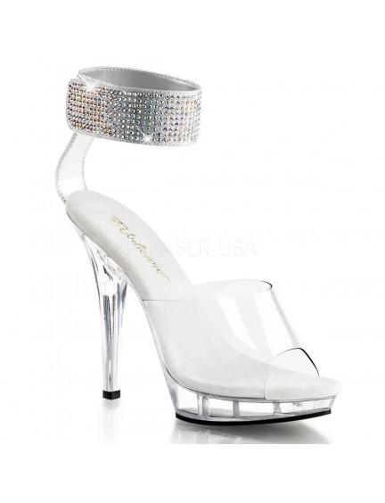 Sandales nu-pieds strass & Transparent PLEASER