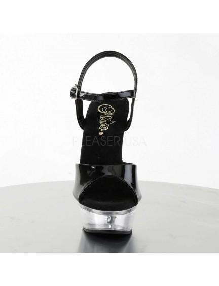 Sandales Noire Vernie et transparente Pleaser