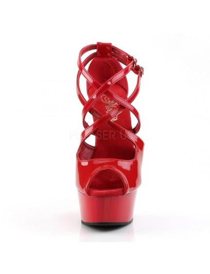 Escarpins Plateforme Bride vernis Rouge PLEASER