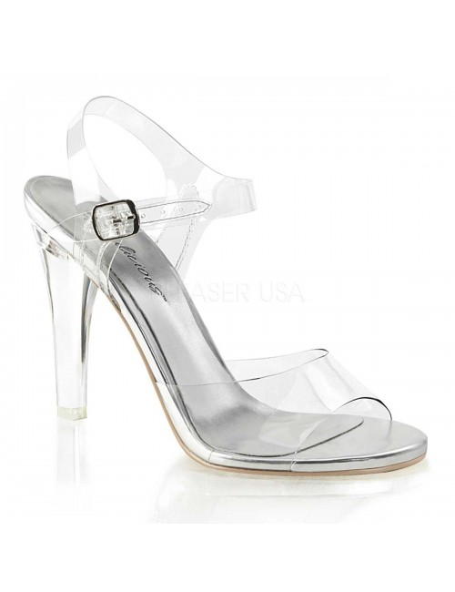 Sandales transparentes Argentée PLEASER