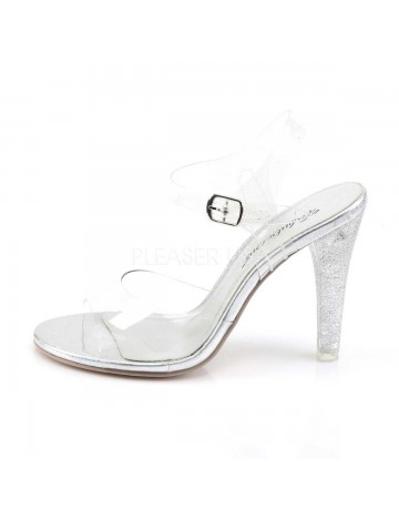 Sandales transparentes Talon Pailleté PLEASER