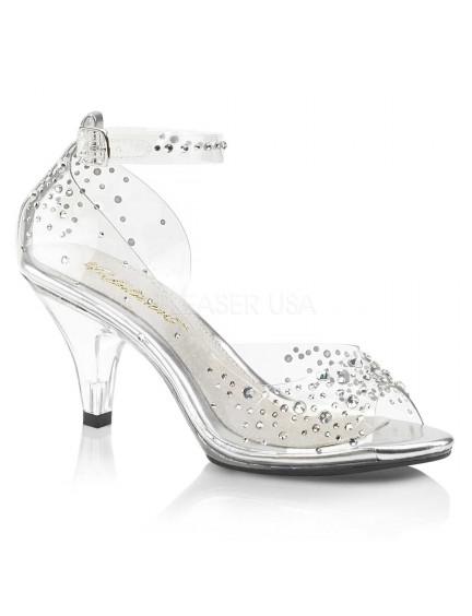 Sandales habillées à petit talon et Strass PLEASER