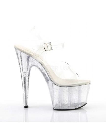Sandales Plateforme Transparente Pailleté Sexy Pleaser