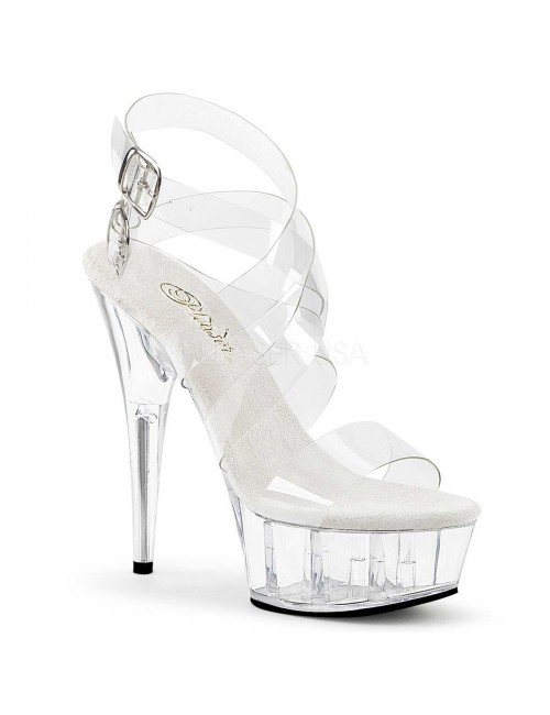 Sandales plateforme Multi Bride Transparente PLEASER