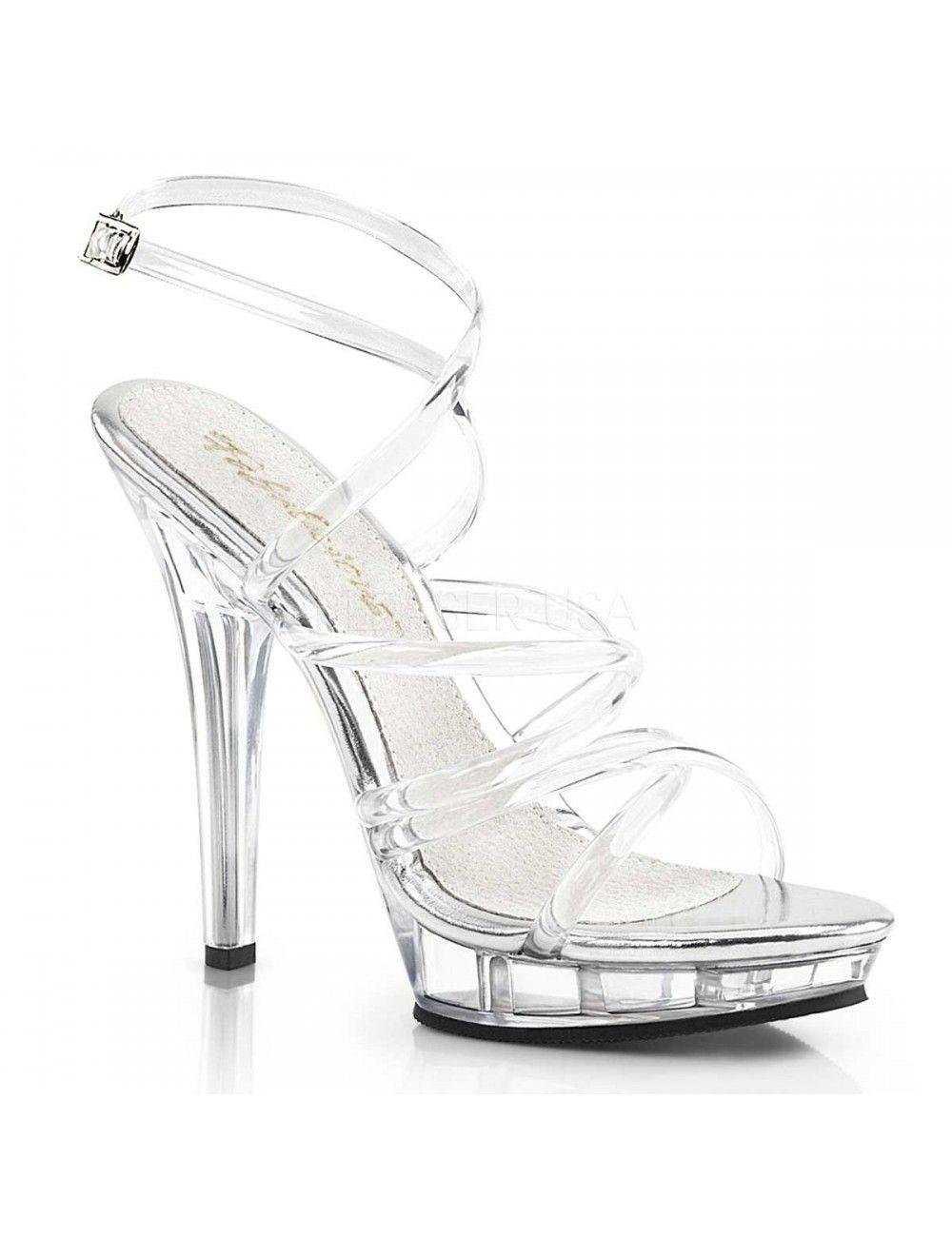 Sandales Plateforme Brides Transparentes Lip Pleaser