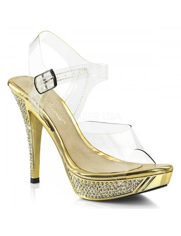 Sandales Or et Strass PLEASER