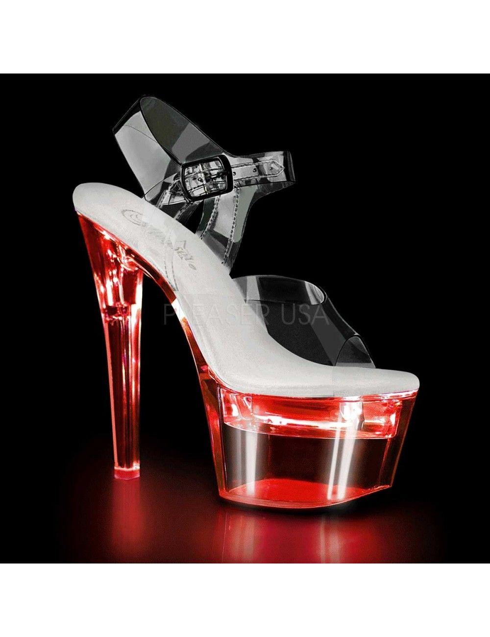 Sandales Plateforme Flashdance Transparente PLEASER