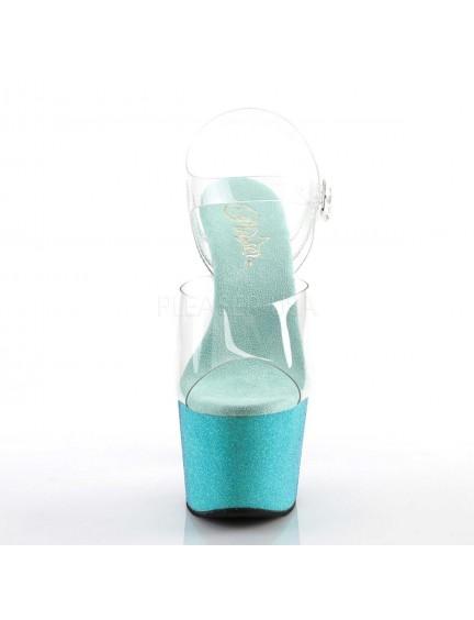 Sandales Plateformes Dégradé Bleu Pailletés Chic Pleaser