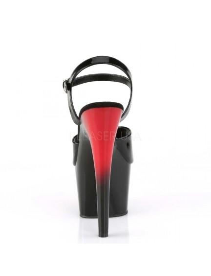 Sandales Talons Vertigineux Dégradé Noir Rouge PLEASER