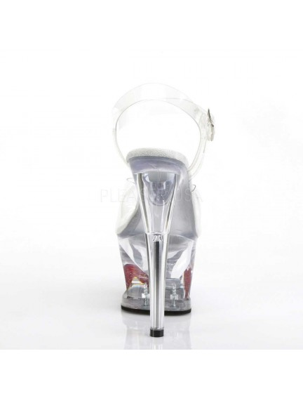 Sandales Plateformes Transparente Sexy Coeur PLEASER