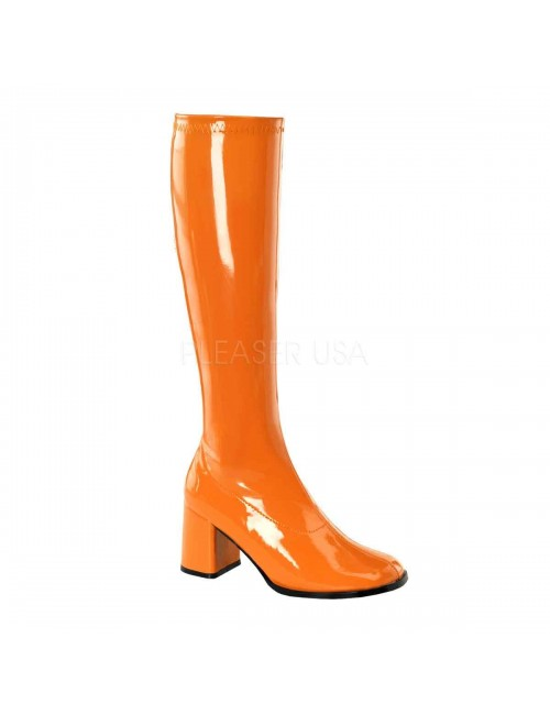 Bottes mode flash et chic Orange Fluo PLEASER