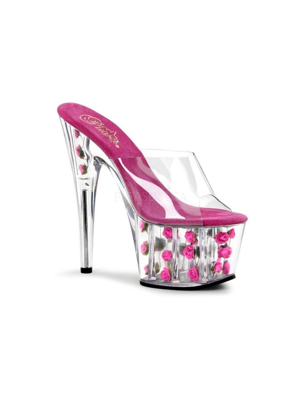 Mules Plateforme sexy Adore Rose Vif PLEASER