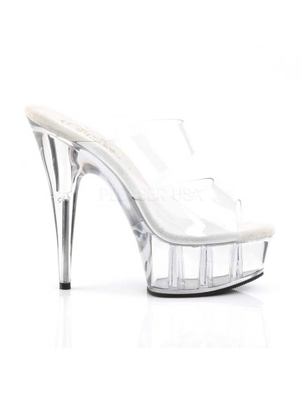 Mules Plateforme Double Bande Chic Pleaser
