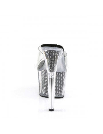 Mules Plateforme sexy Adore Noir Strass PLEASER