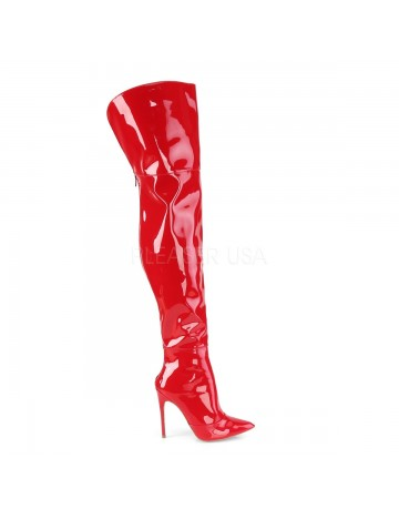 Cuissarde Talons Aiguilles Rouge Vernis Moulante Courtly Pleaser