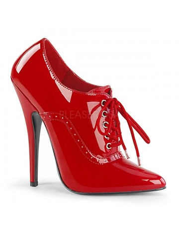 Bottines Richelieu Talon Aiguille Rouge Vernis Pleaser