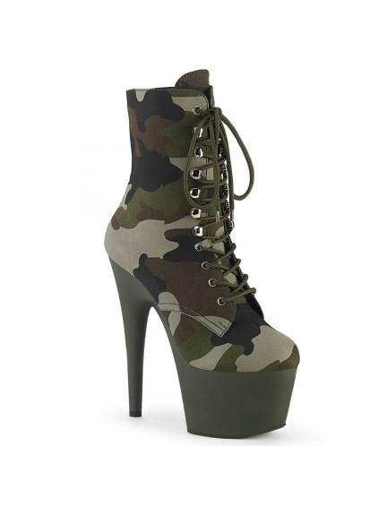 Bottines plateformes Laçage Camouflage PLEASER