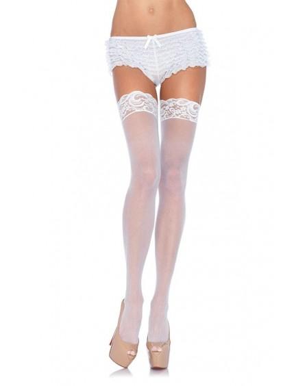 Bas Classique & Chic Blanc LEG AVENUE