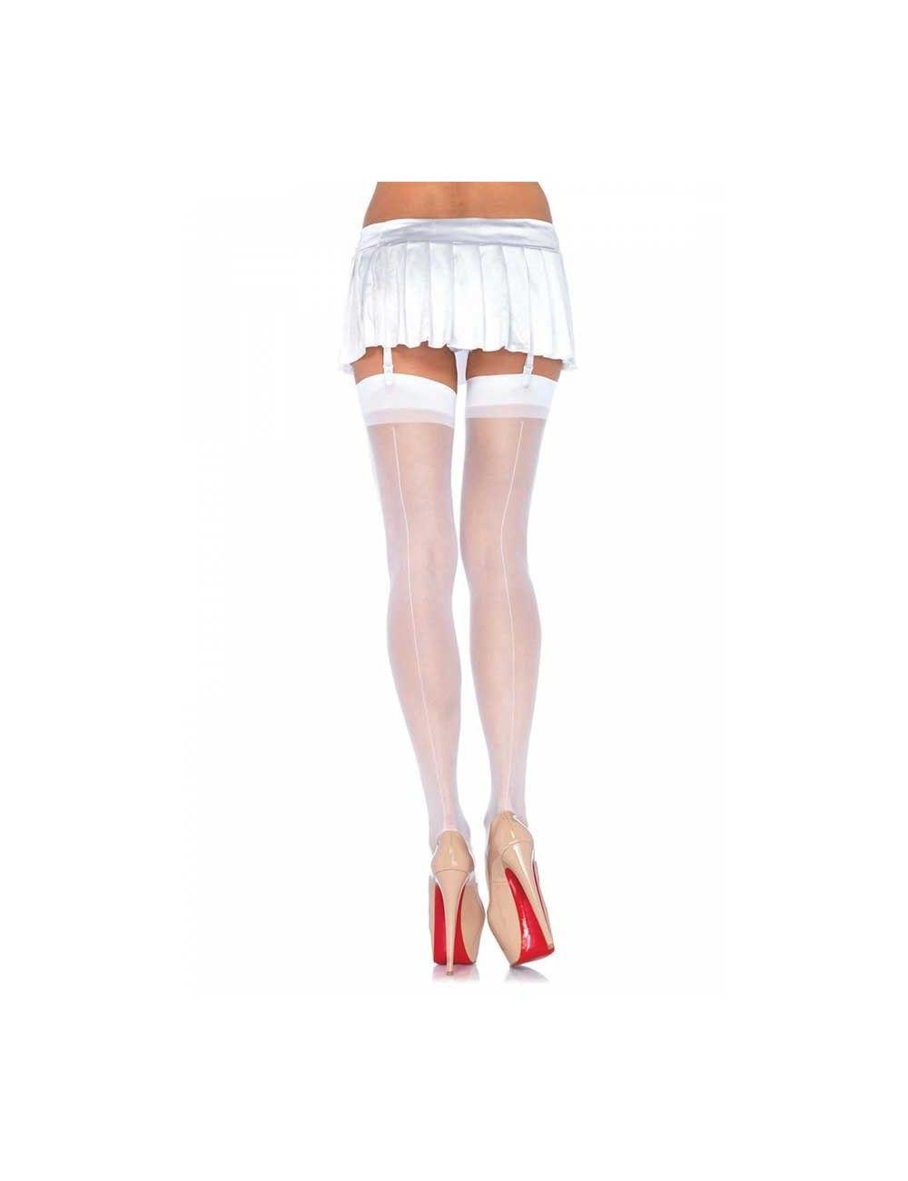 Bas Couture Classique Blanc LEG AVENUE