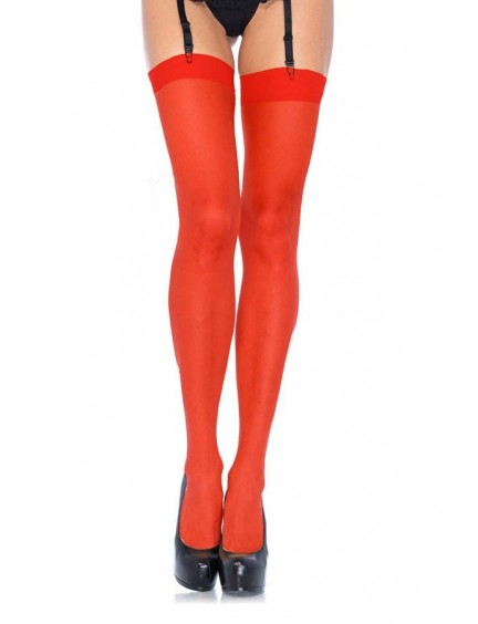 Bas Sexy Rouge & Voile Galbant Leg Avenue