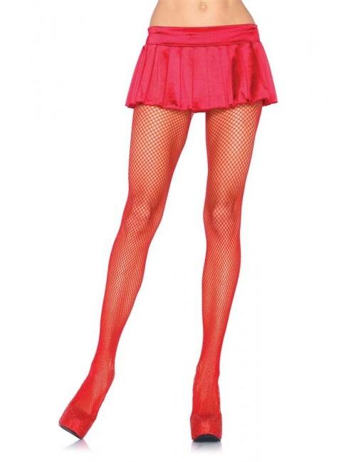 Collant Sexy Résille Moyenne Rouge Leg Avenue