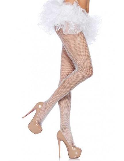 Collant Sexy Résille Moyenne Blanc LEG AVENUE