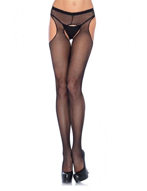 Collant résille ouvertures sexy Queen Size LEG AVENUE
