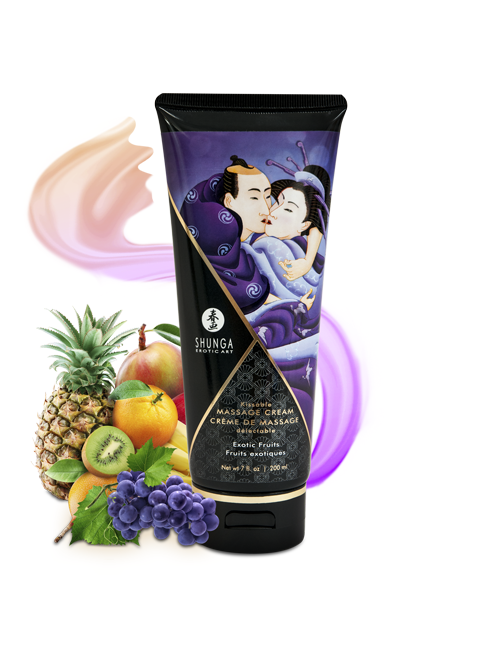 Crème de Massage Savoureuse Fruits exotiques Shunga