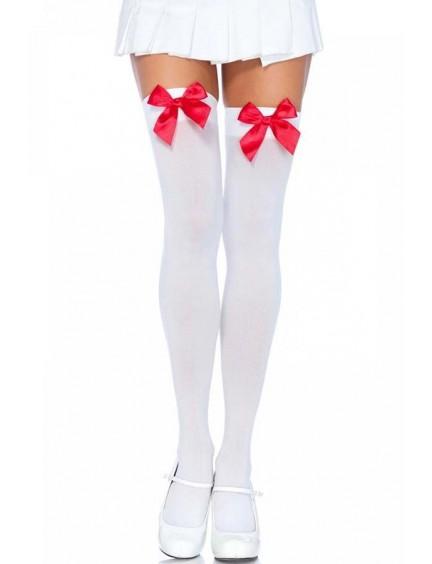 Bas opaques nylon et noeud rouge LEG AVENUE