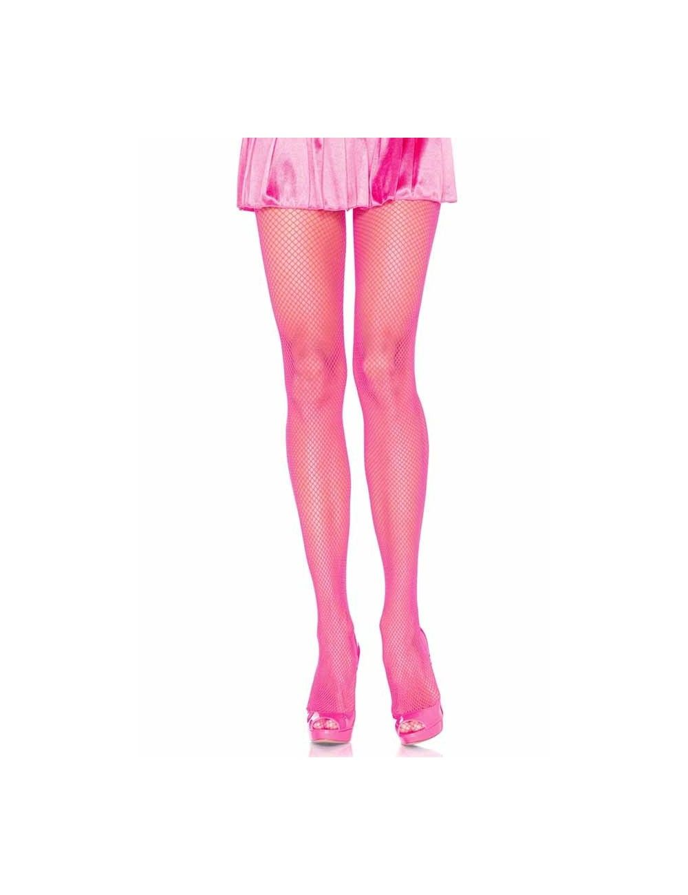 Collant rose et résille en nylon LEG AVENUE