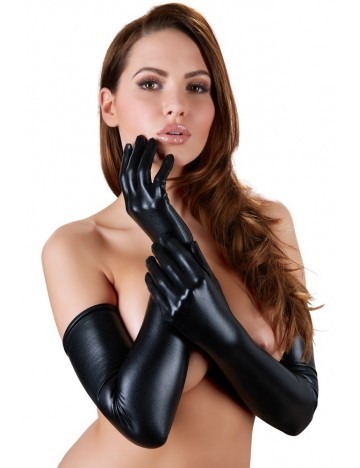 Gants Noir longs Wetlook Cottelli Collection