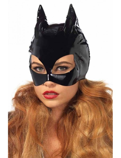 Masque vinyle brillant chat Cat Leg Avenue