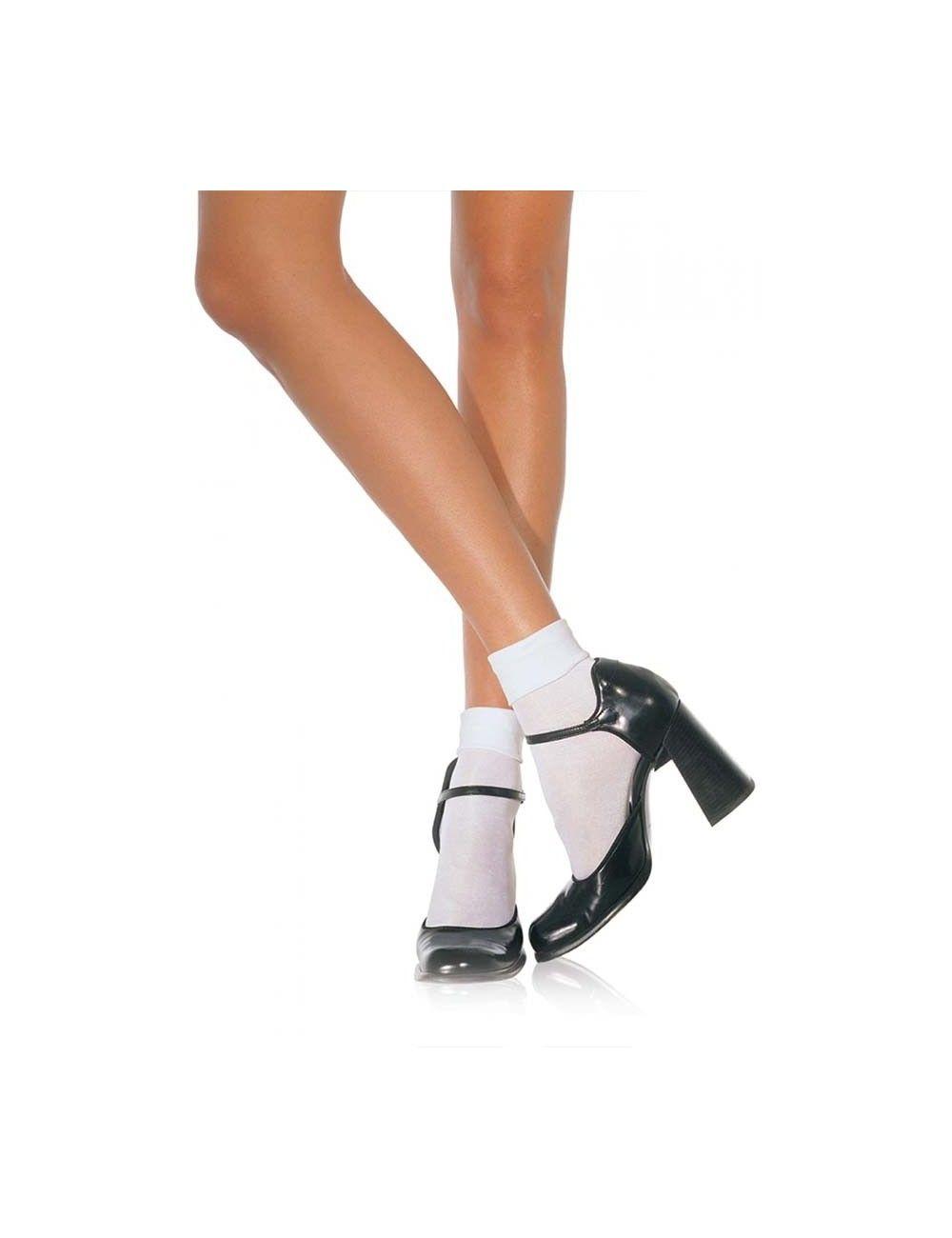 Soquettes blanches opaques LEG AVENUE