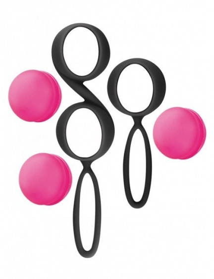 Boules de geisha rose et noir amovibles YOBA