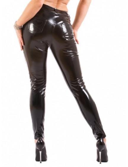 Pantalon Noir Vinyle Style Jeans Sexy Honour