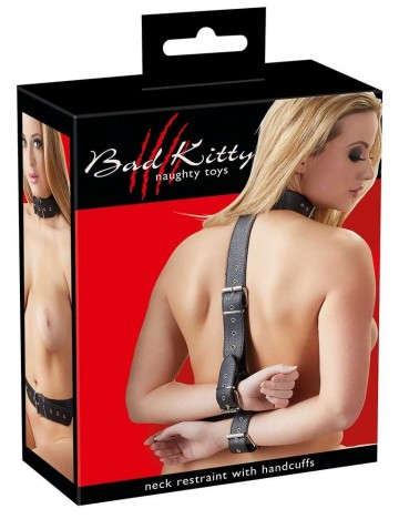 Sangle d'Attache Bondage Cou et Poignet Bad Kitty