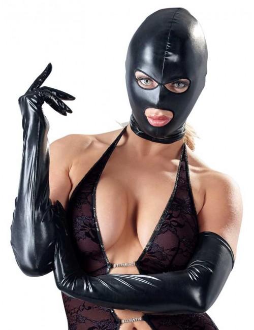Cagoule Wetlook Noir Bad Kitty