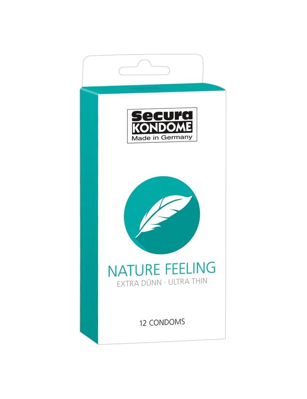 Boite 12 préservatifs fins Nature Feeling SECURA
