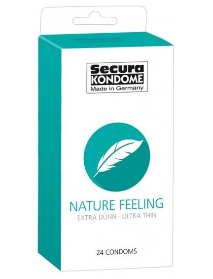 Boite 24 préservatifs fins Nature Feeling SECURA