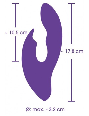 Rabbit 18 cm rechargeable Pure YOU 2 TOYS