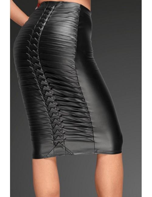 Jupe Wetlook Longue Noir Handmade