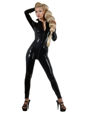 Combinaison en Latex noir Double Zip Latex Collection