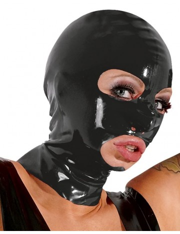 Cagoule en Latex noir Latex Collection