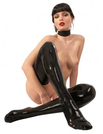 Bas en Latex Noir Latex Collection