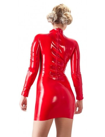 Robe en Latex Rouge Manches Longues Latex Collection