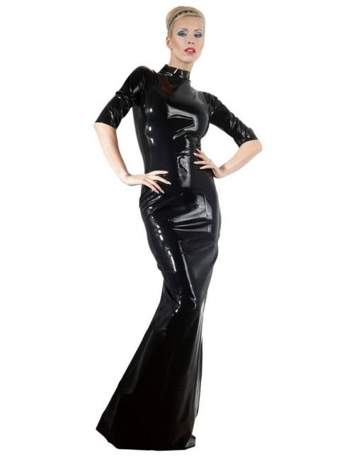 Robe Longue en Latex Noir Sévérité Latex Collection