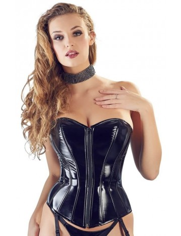 Corset Vinyle Noir Black Level