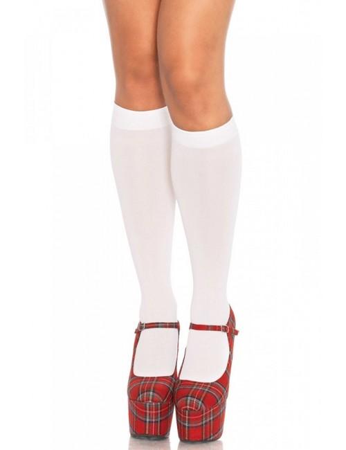 Chaussettes montantes blanches Leg Avenue