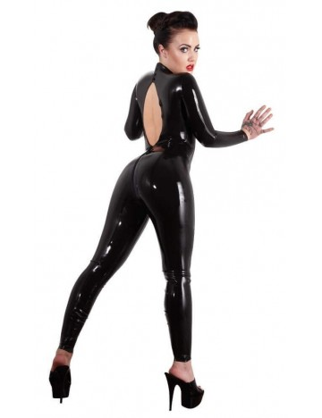 Combinaison Latex noir Col Montant Collection