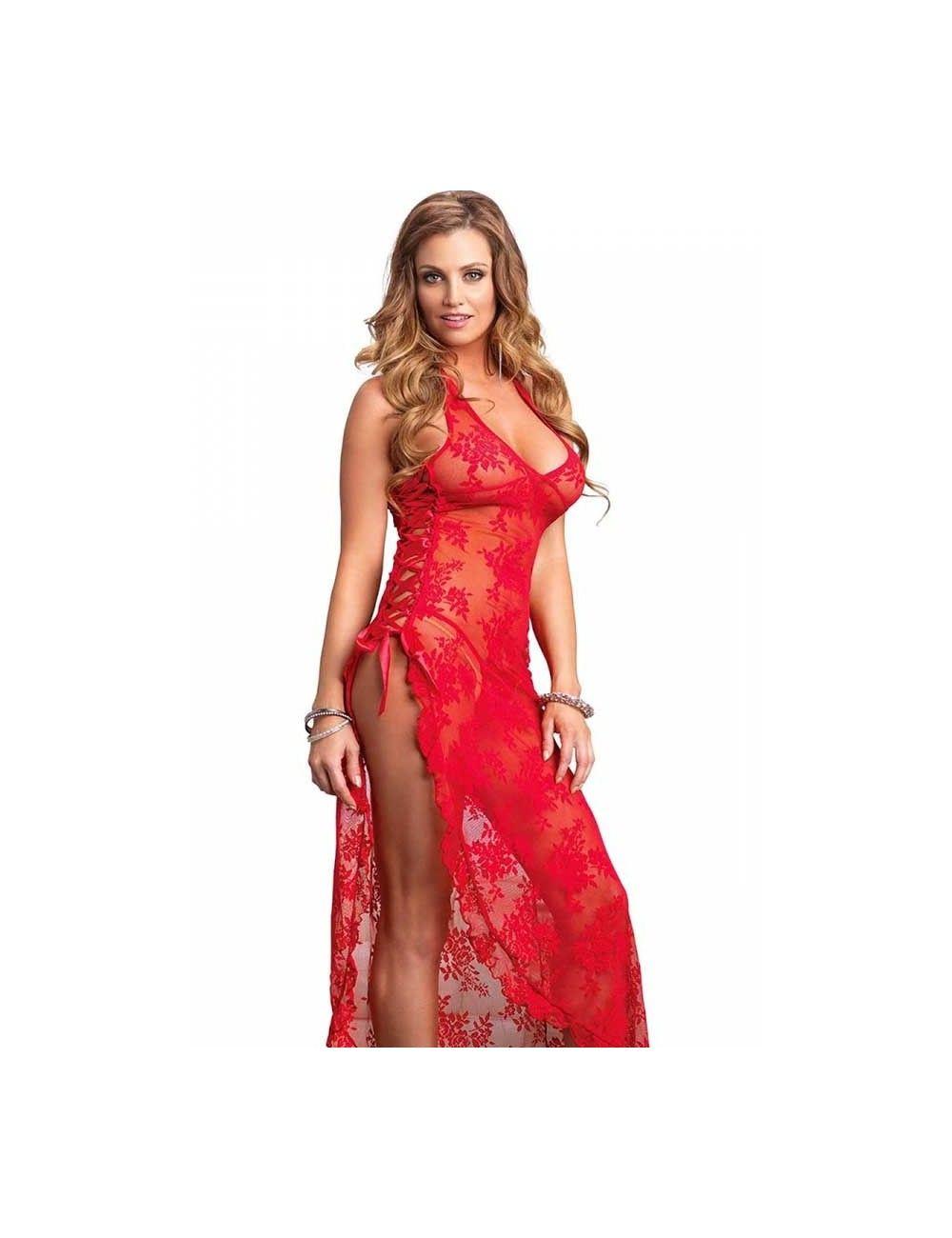 Robe Longue Déesse Latino Rouge Leg Avenue